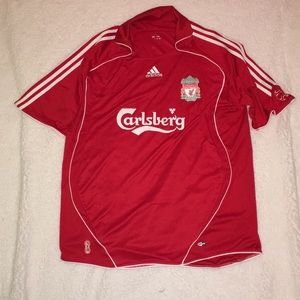 Collared climacool adidas Liverpool jersey